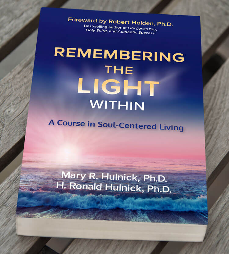 Remembering the Light Within book on a bench